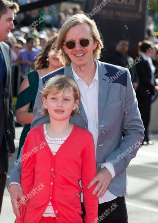 Andrew Adamson and his daughter Isabelle