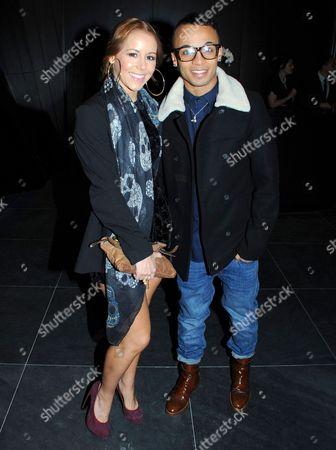 Aston Merrygold and Sarah Richards
