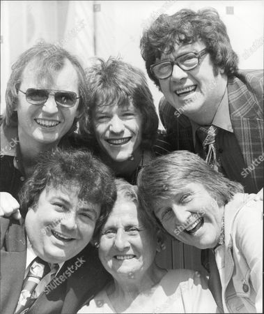 Comedians In Blackpool - Syd Little Jim Davidson Frank Carson Norman Collier Unidentified Woman And Eddie Large (clockwise).