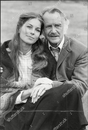 Actor Sir John Mills (dead April 2005) With Barbara Kellerman.