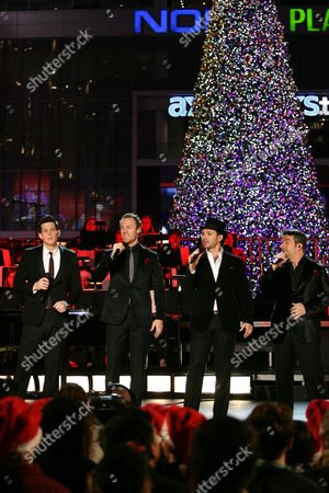 Editorial picture of 2012 Holiday Tree Lighting at L.A. Live, Los Angeles, America - 28 Nov 2012