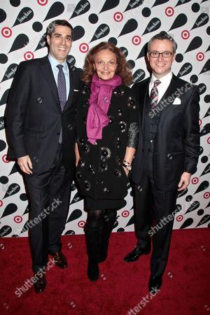 Jeff Jones, Diane von Furstenberg and Jim Gold