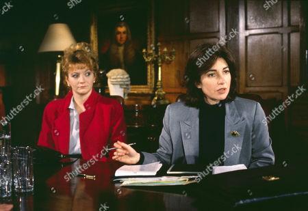Sue Roderick as Pam Davies and Helen Bourne as Sarah Briggs