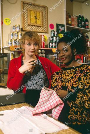Sue Roderick as Pam Davies and Celena Duncan as Patsie