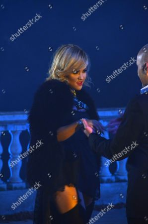 Stock Image of Kat DeLuna and Costi Ionita