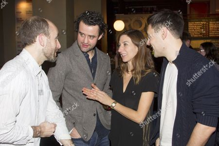 Stock Picture of Tim Steed (Joe), Daniel Mays (Jamie), Susannah Wise (Lisa) and Liam Garrigan (Danny)