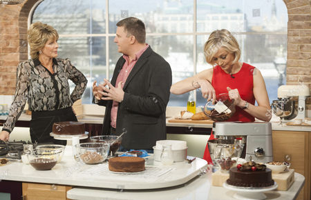 Ruth Langsford with Peter Sidwell and Mich Turner