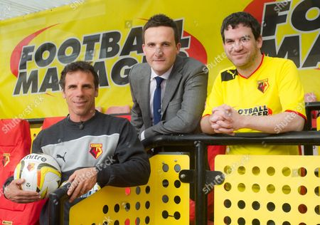 Stock Picture of Gianfranco Zola, Adam Leventhal and Miles Jacobson