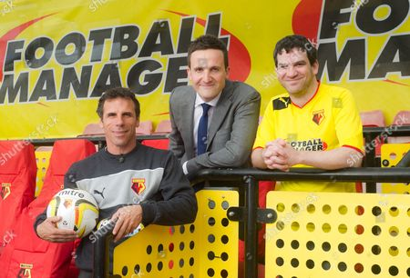 Gianfranco Zola, Adam Leventhal and Miles Jacobson