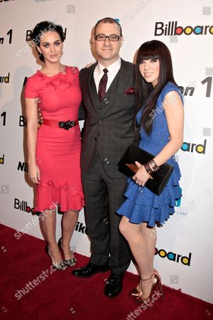 Katy Perry, Bill Werde and Carly Rae Jepsen