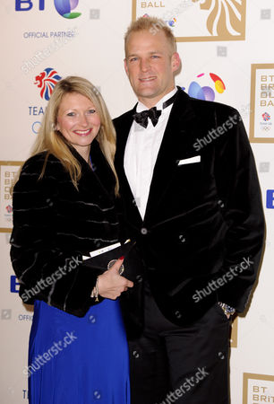 Stock Picture of Alex Partridge and wife Georgina