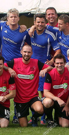 Team photo, featuring Mitchell Cole and Mark Wright of TOWIE