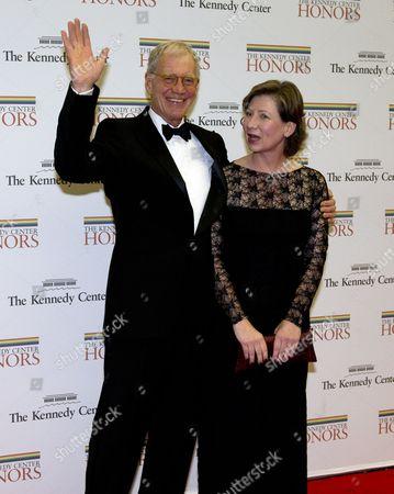 David Letterman and his wife, Regina Lasko
