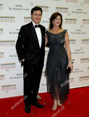 Stephen Colbert and his wife, Evelyn Colbert