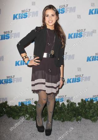 Editorial image of Kiss FM Jingle Ball at the Nokia Theater, Los Angeles, America - 01 Dec 2012