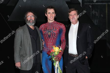 Michael Cohl, Reeve Carney and Jeremiah Harris