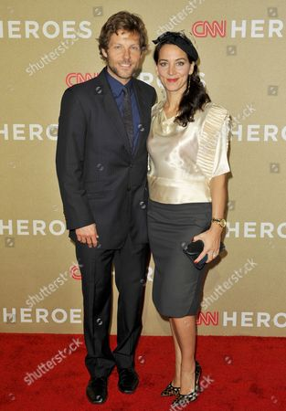 Stock Photo of Jamie Bamber and wife Kerry Norton
