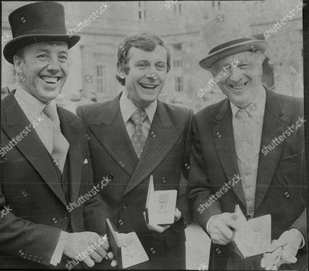 Cricketer John Murray Footballer Alan Mullery And Football Manager Joe Mercer Receive Their Investitures At Buckingham Palace.