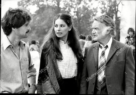 The Filming Of Quatermass With Simon Mccorkindale Barbara Kellerman And Sir John Mills.