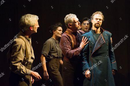Stock Photo of 'The Double' - Sean Murray, Jane Leaney, Rob Edwards, Nicholas Karimi and Simon Scardifield.