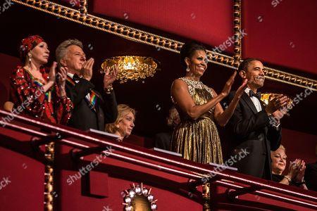Natalia Makarova, Dustin Hoffman, First Lady Michelle Obama, and United States President Barack Obama