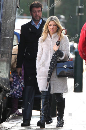 Editorial picture of Nick Knowles and wife Jessica Moor in Chelsea, London, Britain - 03 Dec 2012