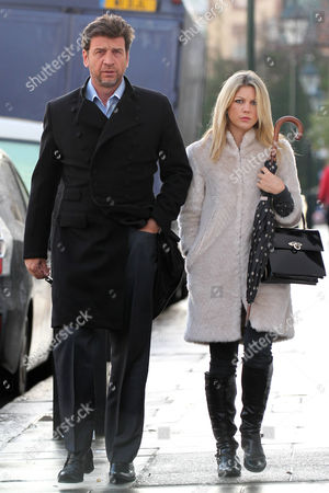Editorial image of Nick Knowles and wife Jessica Moor in Chelsea, London, Britain - 03 Dec 2012