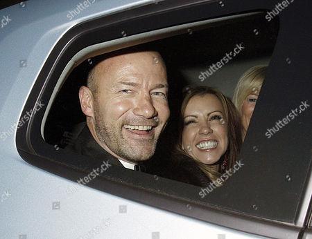 Stock Image of Alan Shearer and wife, Clodagh Kean