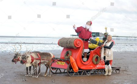Editorial picture of David Hasselhoff stars as Father Christmas in Nikon COOLPIX Alternate Christmas Photo, Southport, Britain - 30 Nov 2012