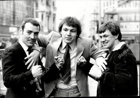 Boxers Alan Minter John L Gardner And Tony Sibson.