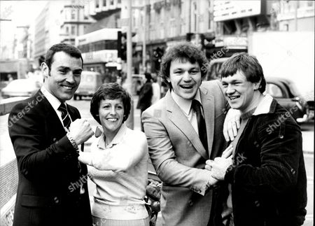 Alan Minter And Wife Lorraine (divorced February 1986) With Boxers John L Gardner And Tony Sibson.