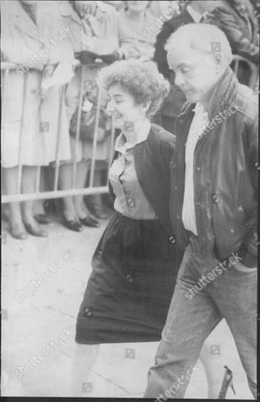 Jennifer Moss And Kenneth Cope Actors At Funeral Of Fellow Coronation Street Star Pat Phoenix 1986.