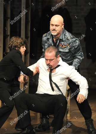 Joshi Gibb as Fyodor, Lloyd Hutchinson as Boris Godunov and Graham Turner as General Basmanov