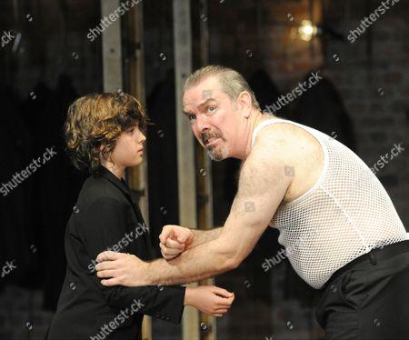 Joshi Gibb as Fyodor and Lloyd Hutchinson as Boris Godunov