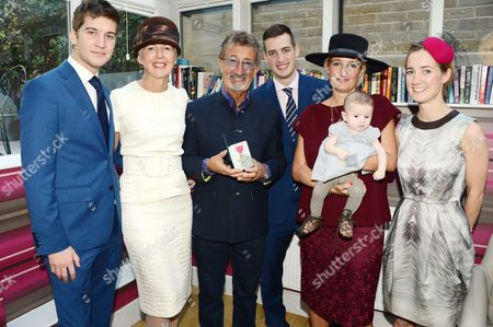 Stock Photo of Kyle Jordan, Marie Jordan, Eddie Jordan, Zac Jordan, Zoe Aspinall (daughter) with daughter Eden and Miki Critchley (daughter)