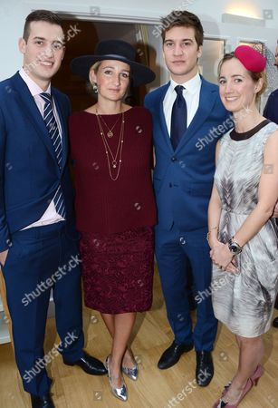 Stock Image of Zac Jordan, Zoe Aspinall (daughter), Kyle Jordan and Miki Critchley (daughter)