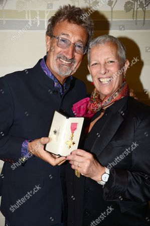Stock Image of Eddie Jordan with Suzi Usiskin, Head of Partnership Development at CLIC Sargent