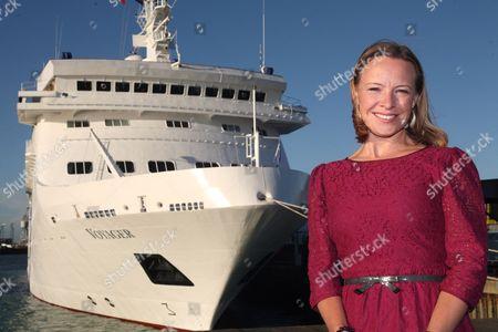 Miranda Krestovnikoff named new ship mv Voyager at a ceremony held in Portsmouth