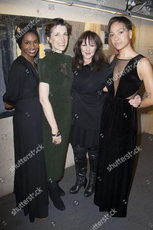 Jenny Jules, Harriet Walter, Frances Barber and Cush Jumbo