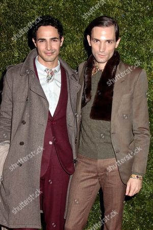 Stock Picture of Zac Posen and Christopher Niquet