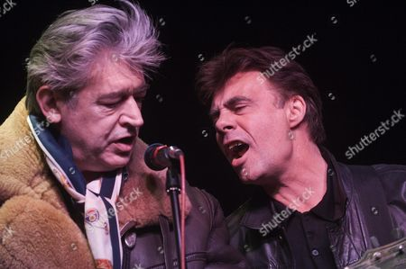 Chris Spedding Rock And Roll And Jazz Guitarist And Glen Matlock English Bass Guitarist. Picture By Glenn Copus.