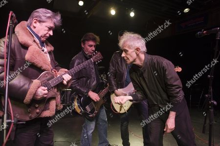 King Mob Beat Band In Rehearsal. L-r Chris Spedding Glen Matlock Sixteen Stephen W. Parsons Picture By Glenn Copus.