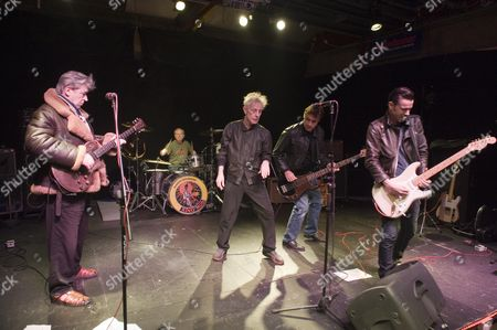 King Mob Beat Band In Rehearsal. L-r Chris Spedding Martin Chambers Stephen W.parsons Glen Matlock Sixteen. Picture By Glenn Copus.