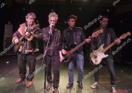 Editorial image of King Mob Beat Band In Rehearsal. L-r Chris Spedding Stephen W.parsons Glen Matlock Sixteen. Picture By Glenn Copus.