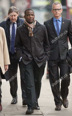Duwayne Brooks Friend Of Murdered Teenager Stephen Lawrence Arriving At The Old Bailey With Former Deputy Commissioner Brian Paddick To Give Evidence In The Trial Of David Norris And Gary Dobson. 17.11.11.