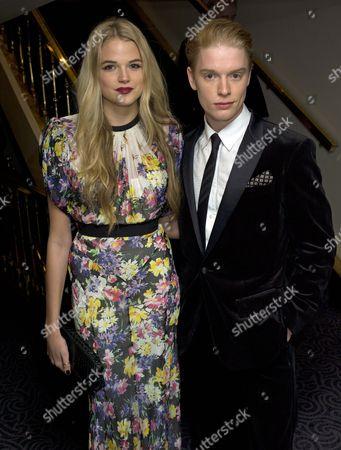 Stock Photo of Evening Standard Theatre Awards Freddy Fox With Gabriella Calthorpe.