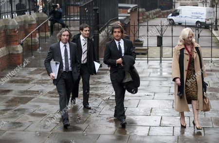 21.11.11 Steve Coogan Arrives The Leveson Inquiry Into Press Practices (phone-hacking ) At The High Court London With His Solicitor David Sehrborne And Mary-ellen Field Elle Macpherson's Former Assistant.