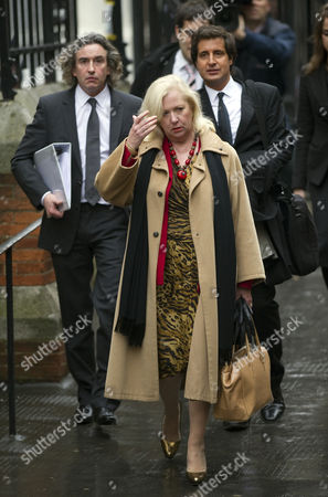 Steve Coogan Arrives At The High Court London For The Leveson Inquiry Into Press Practices With His Solicitor David Sherborne And Mary-ellen Field(centre).
