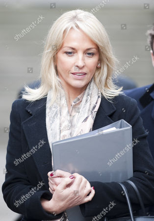 Sheryl Gascoigne Leaves The High Court London After Giving Evidence For The Leveson Inquiry Into Press Practices With David Sherborne.