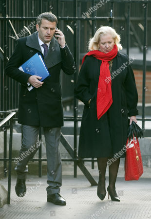Stock Photo of Mark Lewis Solicitor And Mary-ellen Field Arrive At The Royal Courts Of Justice London For The Leveson Inquiry Into Press Practices.